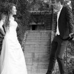 mariés, noir et blanc