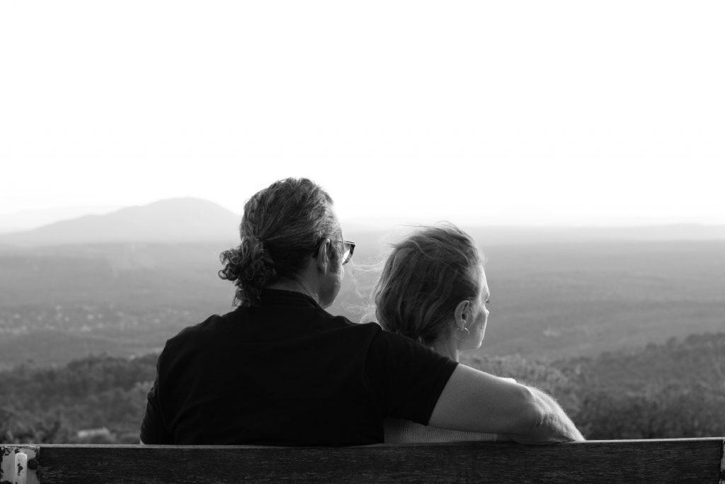 couple, noir et blanc