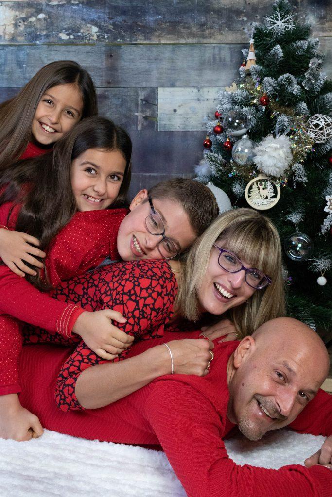 photo de famille dans le var pour les fêtes de noël